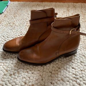 58394780183 Brooks Brothers Genuine Leather ankle strap boots